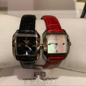 Set of Tissot T-Wave watches in Red and Black